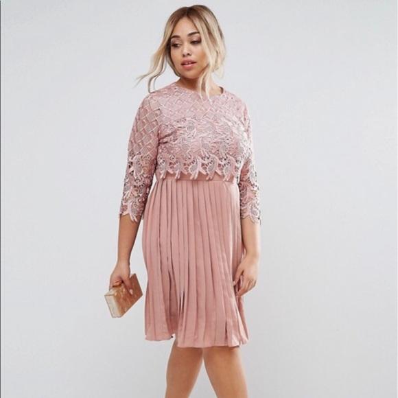 f66ee882231f Little Mistress Dresses | Plus Lace Overlay Midi Dress | Poshmark